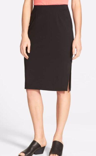 52344d8965 Eileen Fisher Woman Plus Size 3x Black Pencil Skirt Tencel Stretch ...
