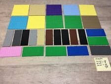 "LEGO Base Plate Lot of 27 16x16 16x8 16x6 Thick Baseplate 5"" X 5""  Friends"