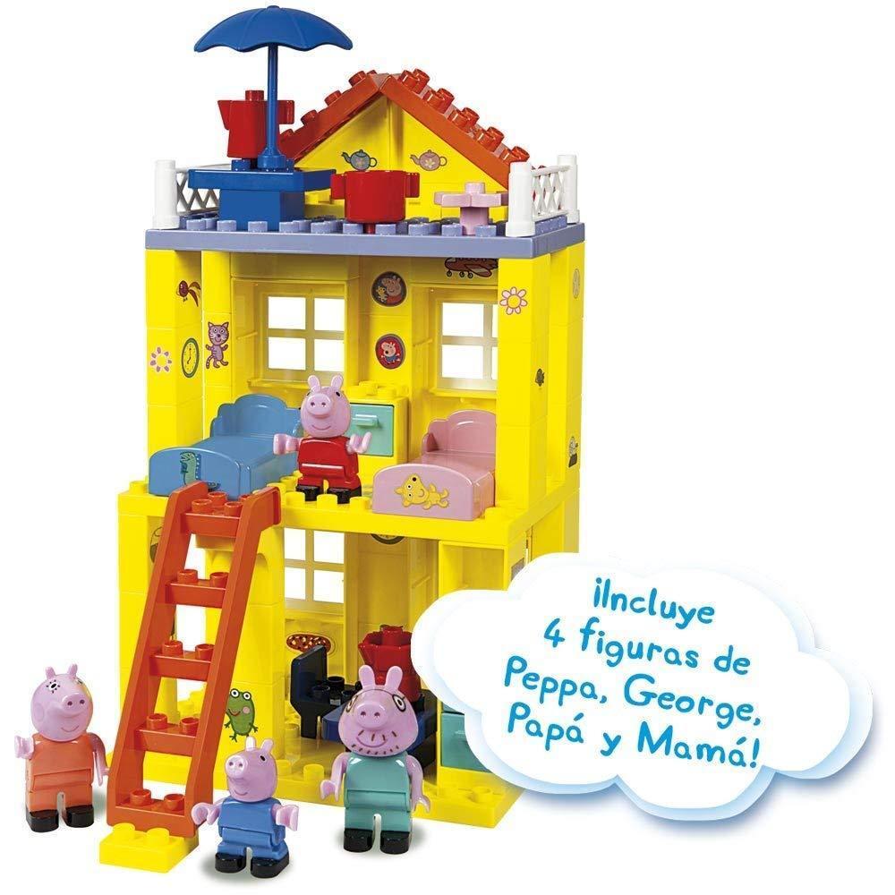 Peppa Pig Simba Haus Blöcke von Bau   Aufbau 84 Teile enthält   beinhaltet 4