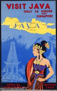 Visit Java Travel  Advertising Poster reproduction