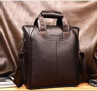 Men's Genuine Leather Handbag Messenger Shoulder Briefcase Laptop BAG Purse