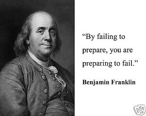 "Benjamin Franklin "" failing to prepare"" Quote 8 x 10 Photo Picture #pf7"