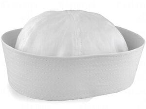 Adult-Unisex-White-Sailor-Navy-Hat-Gob-Boat-Captain-Hen-039-s-Night-Marine-Doughboy