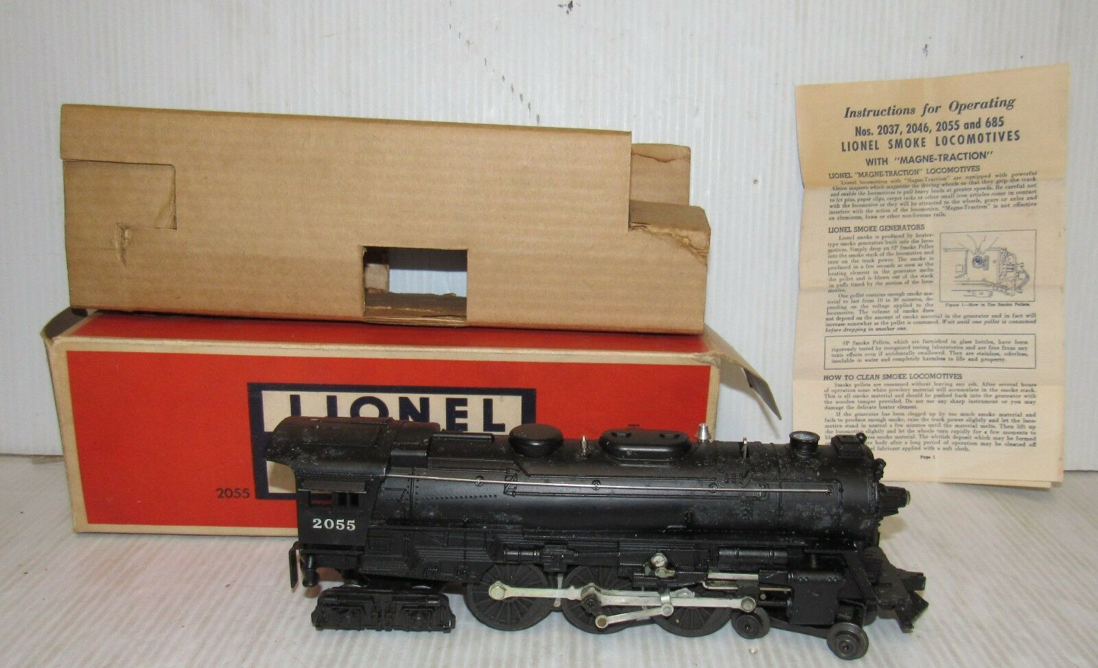Lionel  2055 Locomotive with Smoke Chamber wOrig.scatola & Instructions