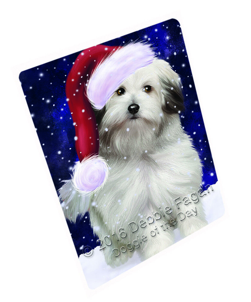 Let it Snow Christmas Holiday Bolognese Dogs Woven Throw Sherpa Blanket T126