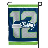 Seattle Seahawks 12th Man Polyester 11x15 Garden Yard Wall Flag Nfl