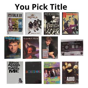 DC Talk Newsboys M W Smith Audio Adrenaline Geoff Moore Cassettes 90s YOU PICK