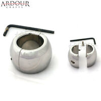 Stainless Steel Testicle Ball, Scrotum Stretcher, Ball Weigh 14 Oz Oval Shape