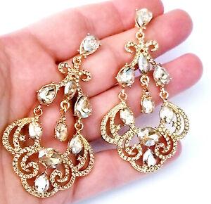 Rhinestone-Chandelier-Earrings-Topaz-3-inch-Pageant