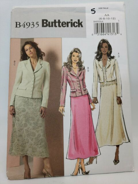 UNCUT Vintage Butterick SEWING Pattern Top Skirt Pants Donna Ricco NY 4187 OOP