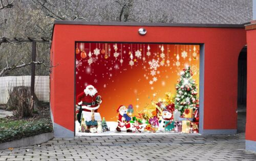 3D Santa Claus 85 Garage Door Murals Wall Print Decal Wall AJ WALLPAPER UK Carly