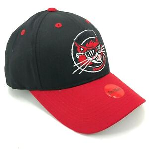 Charleston-Alley-Cats-Youth-Size-Outdoor-Cap-Strapback-Hat-Curved-Brim-Black-Red