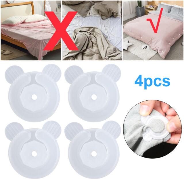 4Pcs Non-slip Bed Sheet Fastener Clips Comforter Bed Duvet Holder Quilt Gripper