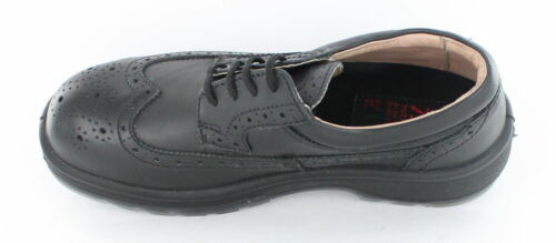 Totectors 1008 Unisex Black Leather STEEL TOE CAP Brogue Safety Work Shoes