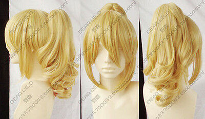 Hot sell!!! Popular New Fashion long Blonde Cosplay Wig With Ponytail