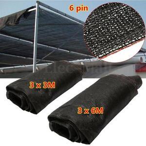 95% UV Black Sunshade Fabric Shade Cloth Greenhouse Garden Outdoor Shadecloth