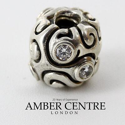 Pandora Silver White Zirconia Large Day Dream Charm - 790869cz Rrp£99!!! Neue Sorten Werden Nacheinander Vorgestellt