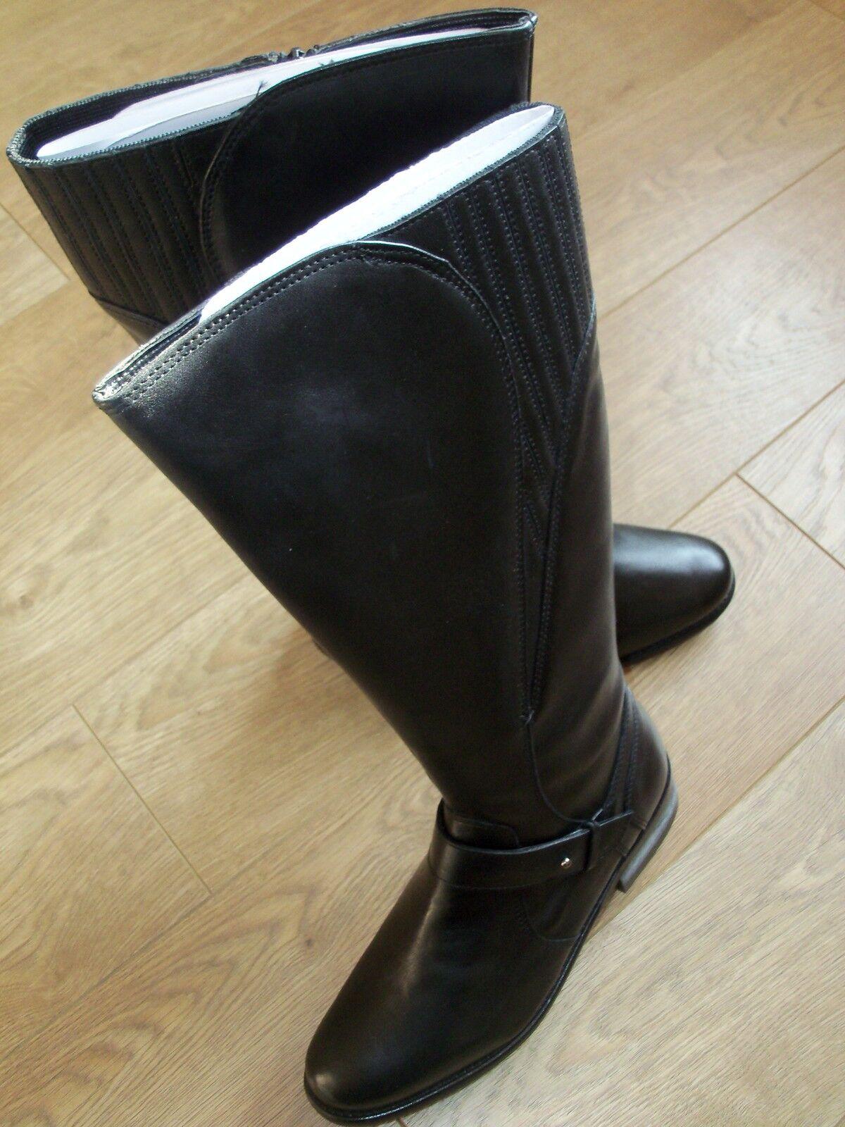 NEW  Debenhams Rocha John Rocha Leather Boots in Black