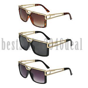 eb7298e5435 Men Women Vintage Retro Large Big Square Frame Sunglasses UV400 ...