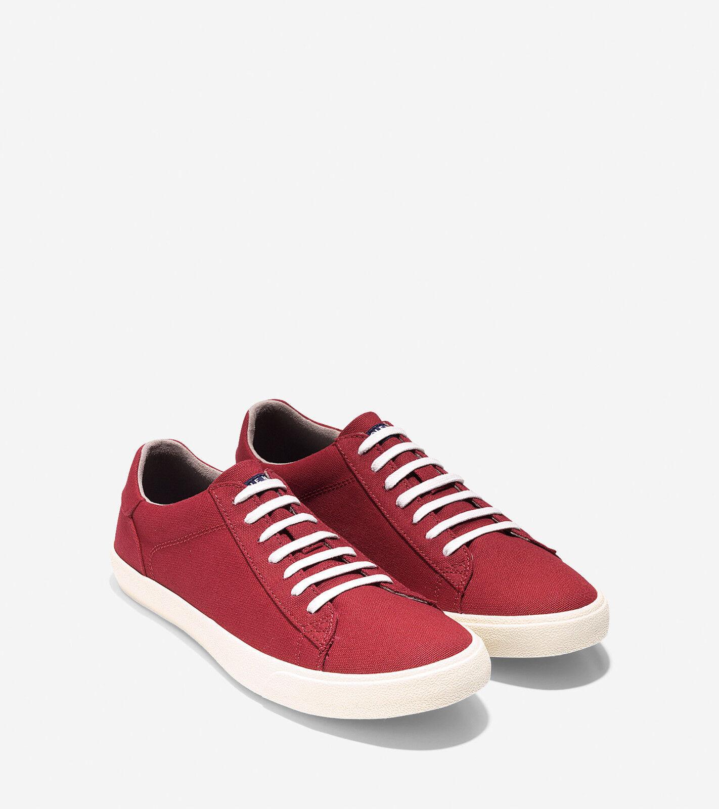 Cole Para Haan Para Cole Hombre Rojo Zapatillas De Lona Trafton Club Court II Zapatos 11.5 Nuevo En Caja f03560