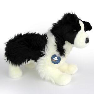 Stofftier-Border-Collie-stehend-Hund-Plueschtier-Kuscheltier-H-ca-28-cm