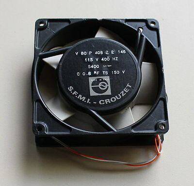 04-13-01530 Fan S.f.m.i.-crouzet V80p408-2-2 93x93mm 115v~ 400hz 5400rpm Guss