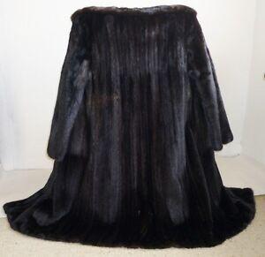 moderner blackglama nerzmantel nerz pelz mink fur coat gr. Black Bedroom Furniture Sets. Home Design Ideas