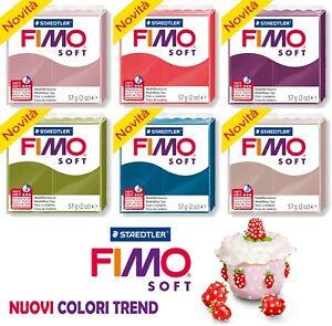 Panetto 57 gr FIMO SOFT TREND COLORS 2018 Pasta Modellabile *Sped. Tracciata*