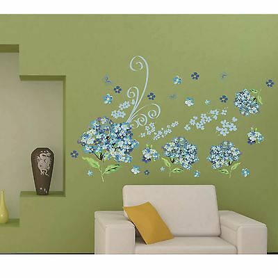 Flower Removable Room Decal Art Wall Home Decor Kids DIY Stickers Wallpaper