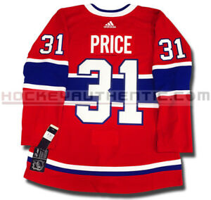 CAREY PRICE MONTREAL CANADIENS ADIDAS ADIZERO HOME JERSEY AUTHENTIC PRO