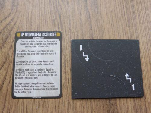 Star Trek Attack Wing op action de fuite Modèle Jeton//PIÈCE /& Carte de référence