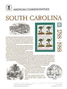309-25c-South-Carolina-Statehood-2343-USPS-Commemorative-Stamp-Panel