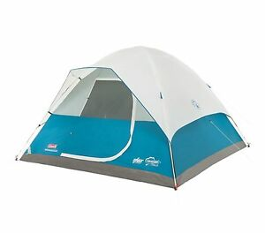 Coleman Longs Peak 6 Person Fast Pitch Family Camping Dome Tent | 10' x 10'