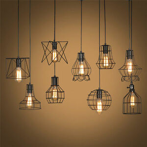 Image Is Loading Edison Vintage Ceiling Metal Chandelier Lighting Pendant Light
