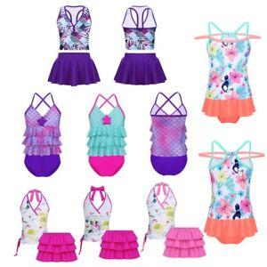 e9252e865b Image is loading Toddler-Kids-Baby-Girls-Tankini-Swimwear-Flower-Swimsuit-