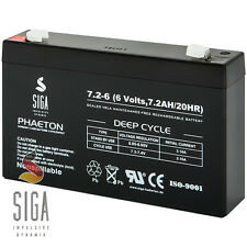 Akku 7,2Ah 6V AGM Blei Gel Batterie 7.2Ah ersetzt 7Ah 8Ah 3-FM-7 3 FM 7