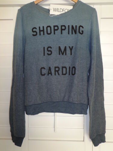 NWT WILDFOX COUTURE Shopping Is My Cardio Ombre Baggy Beach Jumper Sweatshirt M
