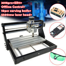 Cnc 3018 Pro Machine Router 3 Axis Offline Engraving Wood Mill5500mw Laser Head