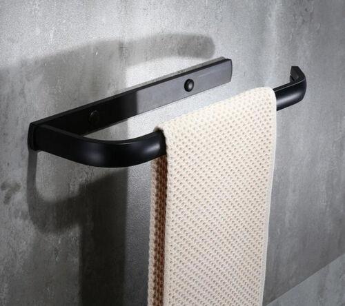 Black Aluminum Towel Ring Bathroom Accessory Towel Rack Holder Wall Mounted