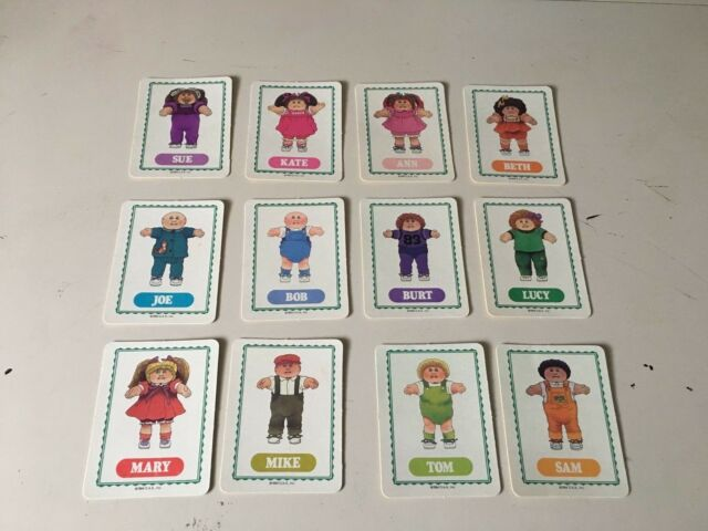 Vintage 1984 CABBAGE PATCH KIDS Boardgame 12 CARDS IN GREAT CONDITION!!!!!!!!!!!