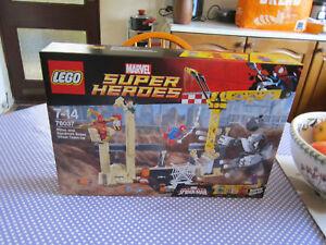 Lego Marvel Sh Spiderman L'equipe De Rhino Et L'homme Sable 76037 Neuf Scellé