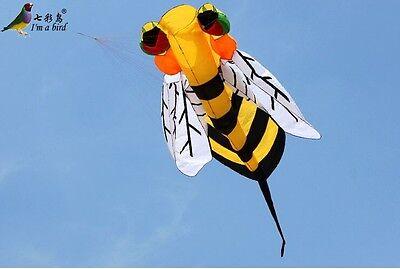 NEW 3m single line Stunt Hornet bee POWER Sport Kite outdoor toys GREEN