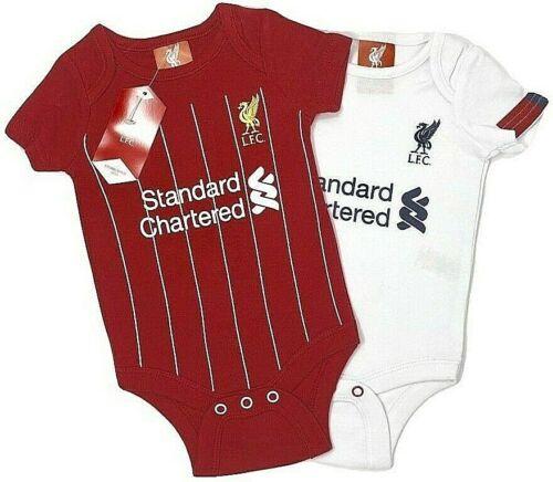 Liverpool FC 2020 Babys Fußball Set Körper Kinderwagen Anzug Baby-Body X 2 Lfc