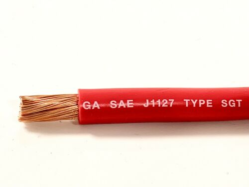 SOLD PER FOOT 2 Gauge Battery Cable RED SAE J1127 SGT Automotive Power Wire
