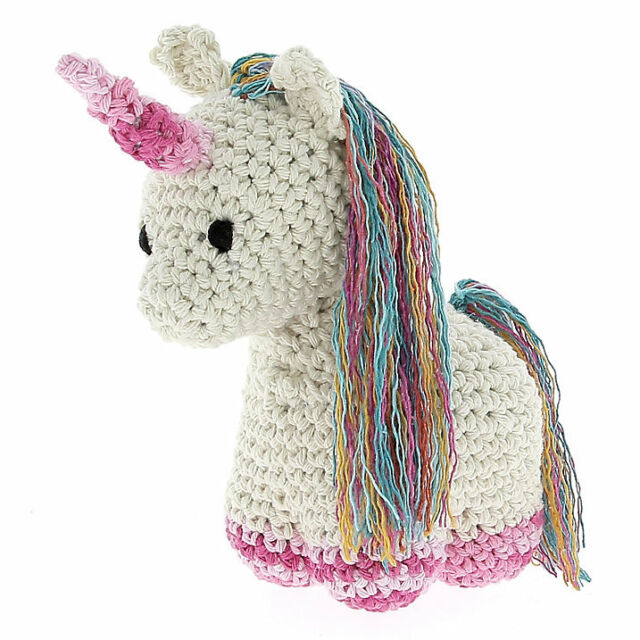 Crochet Amigurumi Baby Unicorn Pattern-Stuffed Toy Unicorn ... | 640x640