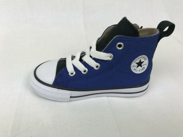 0b10c586bff9 Converse Infant Chuck Taylor AS Hi High Top Roadtrip Blue Velcro Easy On  751760F