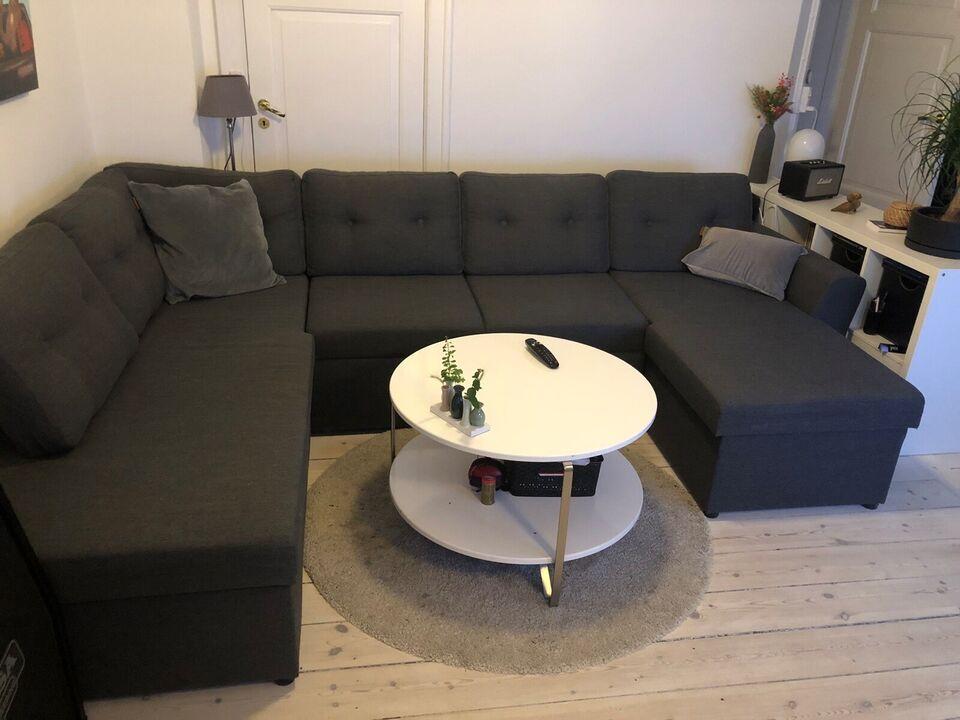 Sofa, stof, 6 pers.