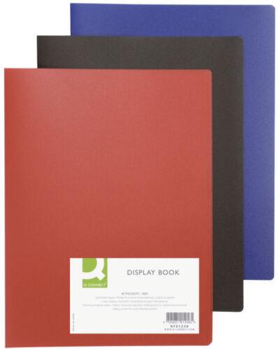 Farbe wählbar Sichtbuch A4 mit 40 Hüllen Präsentationsmappe Zeugnismappe