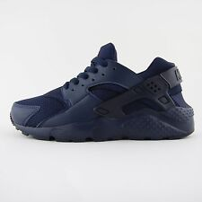New Womens Nike Air Huarache Run Triple Blue Trainers UK 5.5 Kids 654275 403 BNB