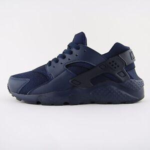 New-Womens-Nike-Air-Huarache-Run-Triple-Blue-Trainers-UK-5-5-Kids-654275-403-BNB